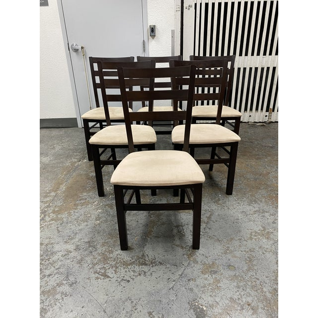 Burnt Umber Calligaris Extendable Dining Table + Six Chairs Set For Sale - Image 8 of 13