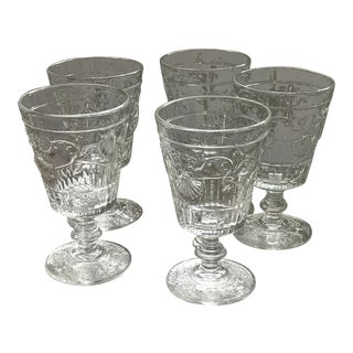 1940s La Rochere Versailles Tasting Glasses - Set of 5 Glasses, Price Firm For Sale