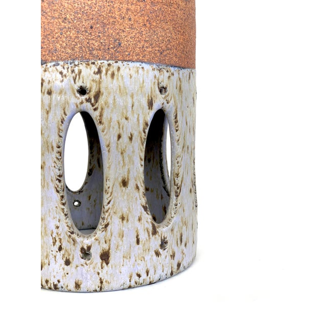 Contemporary Lavender Glazed Ceramic Table Lamp For Sale - Image 4 of 5