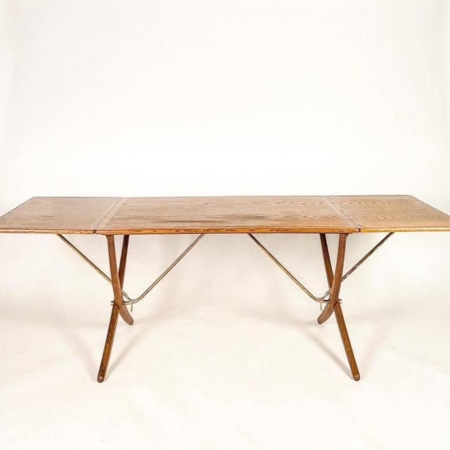 Hans Wegner Andreas Tuck Oak Dining Table For Sale - Image 11 of 11