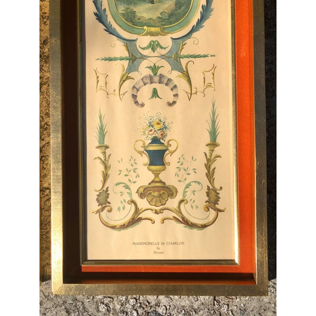Lithograph Neoclassical Framed Lithograph Prints - a Pair For Sale - Image 7 of 12