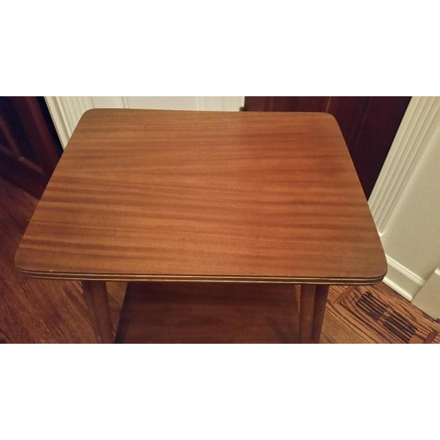Mid-Century Modern Rolling Side Table - Image 5 of 5