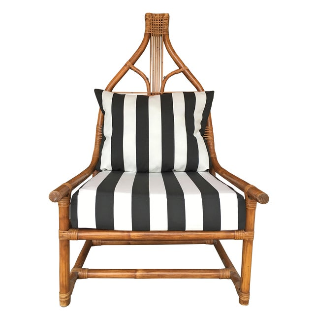 High Back Rattan Throne Chairs - A Pair - Image 2 of 6