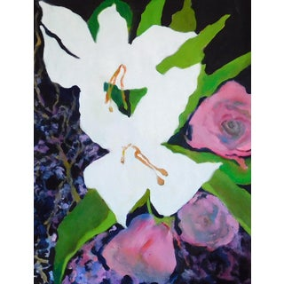 """""""White Calla"""" Contemporary Botanical Oil Painting by Ann Cameron McDonald For Sale"""