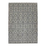 Image of New Transitional Gray Damask Ikat Area Rug With Modern Style - 09'11 X 13'10 For Sale