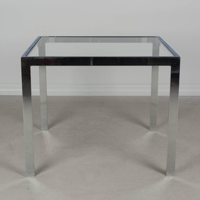 Mid-Century Modern Milo Baughman Chrome End Table For Sale - Image 3 of 5