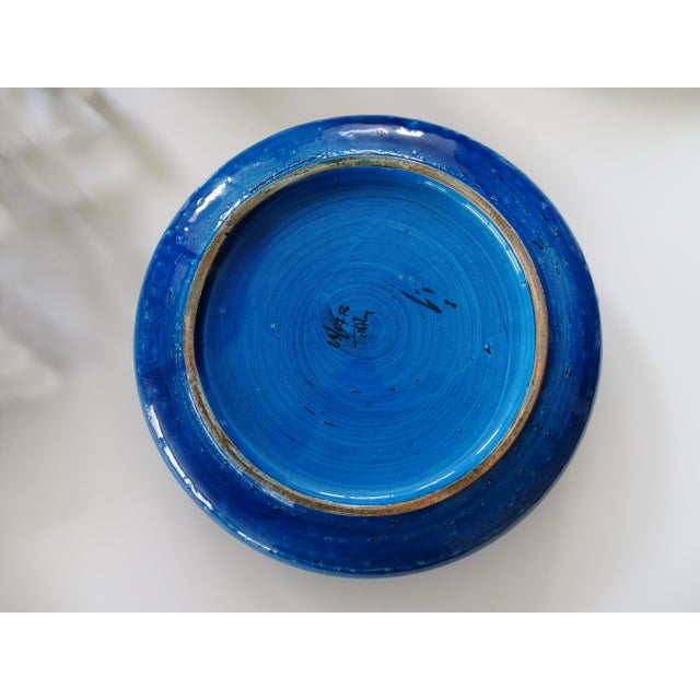 Bitossi Aldo Londi Ceramic Bowl/Ashtray in Rimini Blue, 1960s For Sale - Image 6 of 8