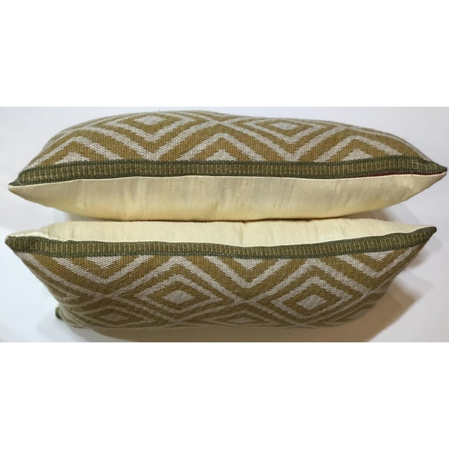 Vintage Geomtic Motif Pillows - A Pair - Image 7 of 9