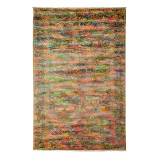 """Vibrance, Hand Knotted Contemporary Wool Area Rug - 5' 0"""" X 7' 5"""" For Sale"""