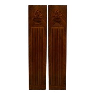 Pair of French Art Deco Kingwood Veneered Pilaster Panels For Sale