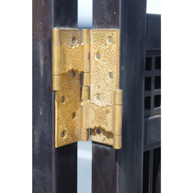 Black Japanese Meiji Period Mirrored Screen For Sale - Image 8 of 12