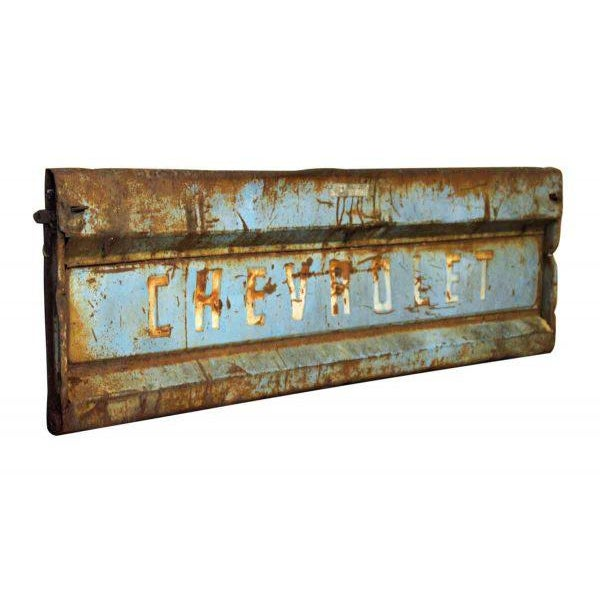 Vintage Blue Chevy Pickup Truck Tailgate Door - Image 4 of 5