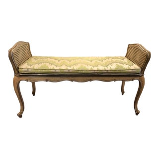 Mid Century Neo Classical French Bench For Sale