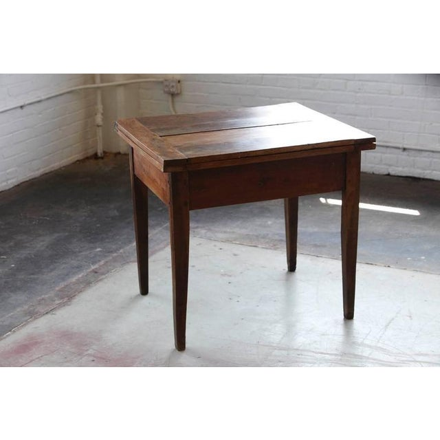 Country Late 19th Century Card Table with Tilt Top Mechanism For Sale - Image 3 of 10