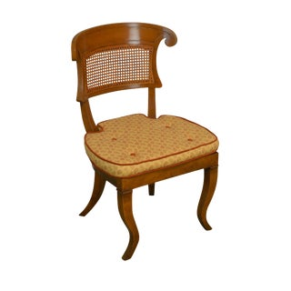 Biedermeier Style Vintage Custom Quality Cane Back Desk or Side Chair For Sale