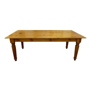 Country Farmhouse Pine Dining Table For Sale