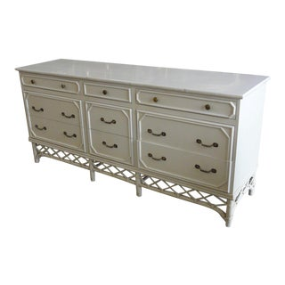 Ficks Reed 9 Drawer Dresser For Sale