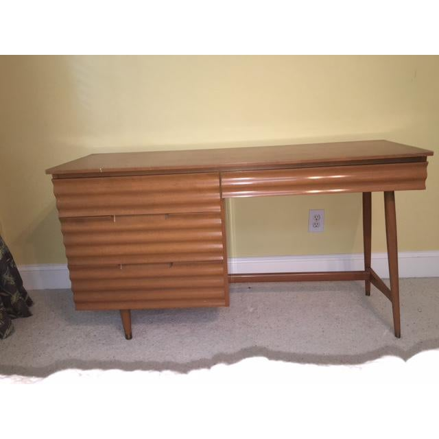 1950's Danish Modern Style Study Desk - Image 2 of 6