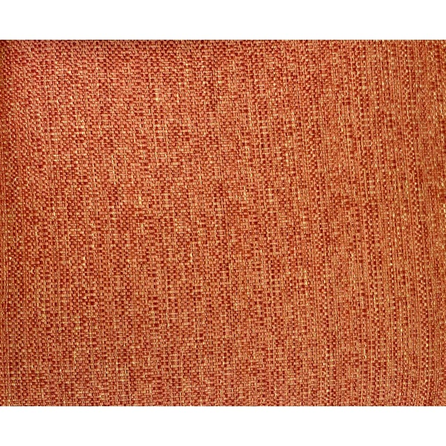 Late 20th Century Hickory Chair Dressmaker Sofa With Red Textured Upholstery For Sale - Image 5 of 7
