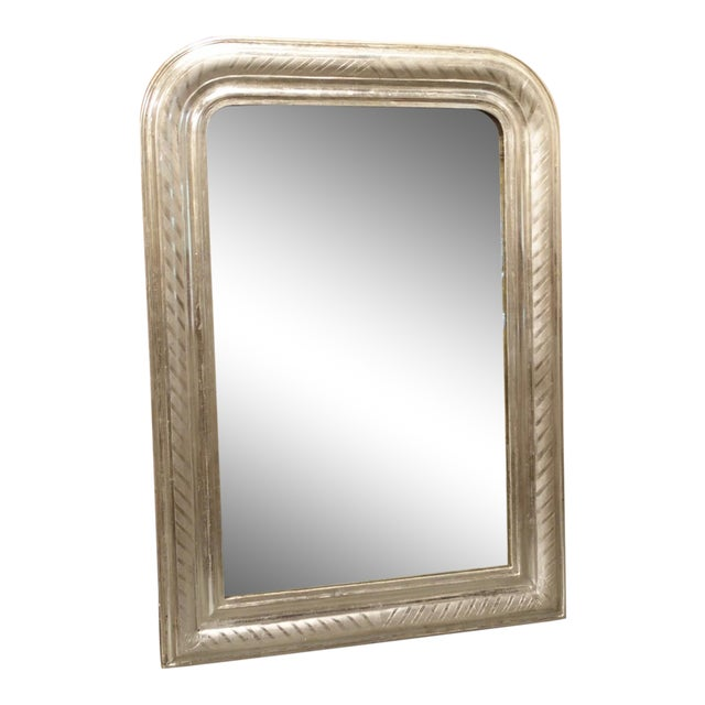 Antique French Louis Philippe Silverleaf Mirror For Sale