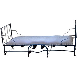19th Century Antique French Scrolling Iron Daybed