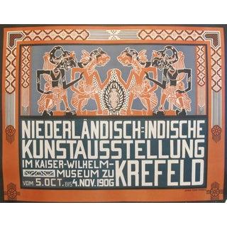 1906 Dutch Poster, Niederlandisch Indische Kunstausstellung For Sale