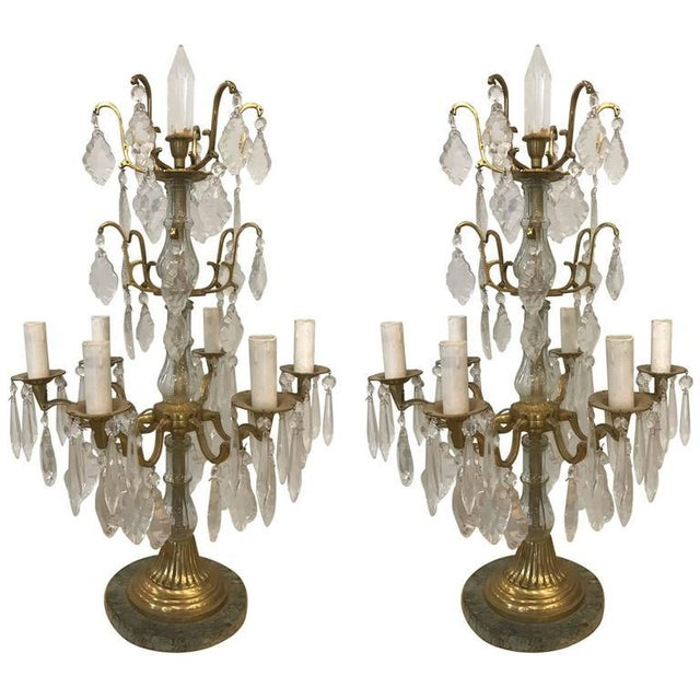 Bronze Pair of Louis XVI Style Bronze Candelabras For Sale - Image 7 of 7