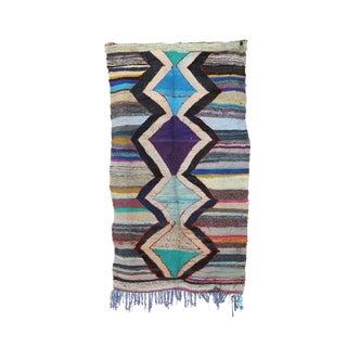 "Kilim Boucherouite Moroccan Kilim, 4'2"" X 7'4"" Feet"