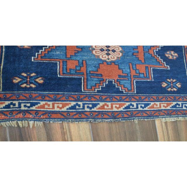 "Vintage Caucasian Kazak Rug - 3'6"" X 4'8"" - Image 9 of 9"