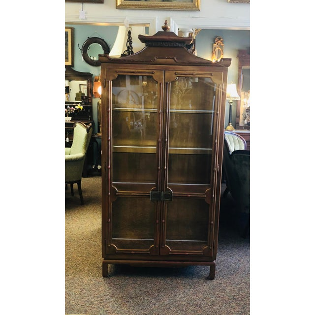 James Mont Chinoiserie Pagoda Curio Cabinet For Sale - Image 13 of 13