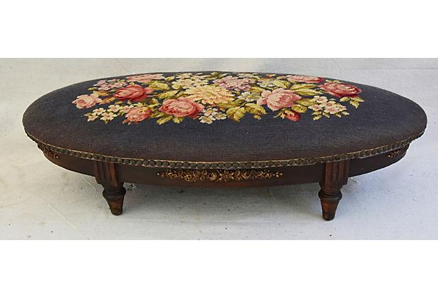 Exceptional 19th Century Antique French Needlepoint Footstool   Image 2 Of 11 Great Ideas