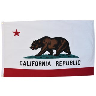 Large Vintage California Republic State Bear Flag For Sale