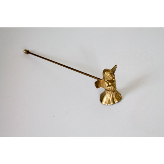 English Traditional Brass Angel Candle Snuffer For Sale - Image 3 of 5