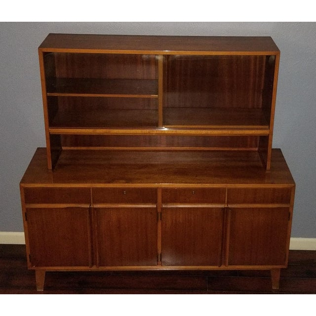 1956 P. Dohler Mid-Century Modern Veneer China Cabinet For Sale - Image 13 of 13