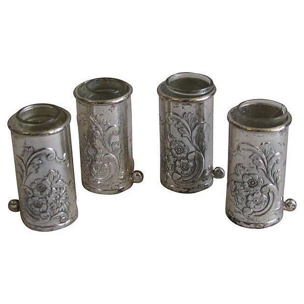 Silver Repousse Placecard Menu Vases - Set of 4 - Image 1 of 3