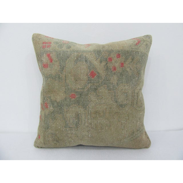 Vintage Turkish Faded Decorative Pillow For Sale - Image 4 of 4