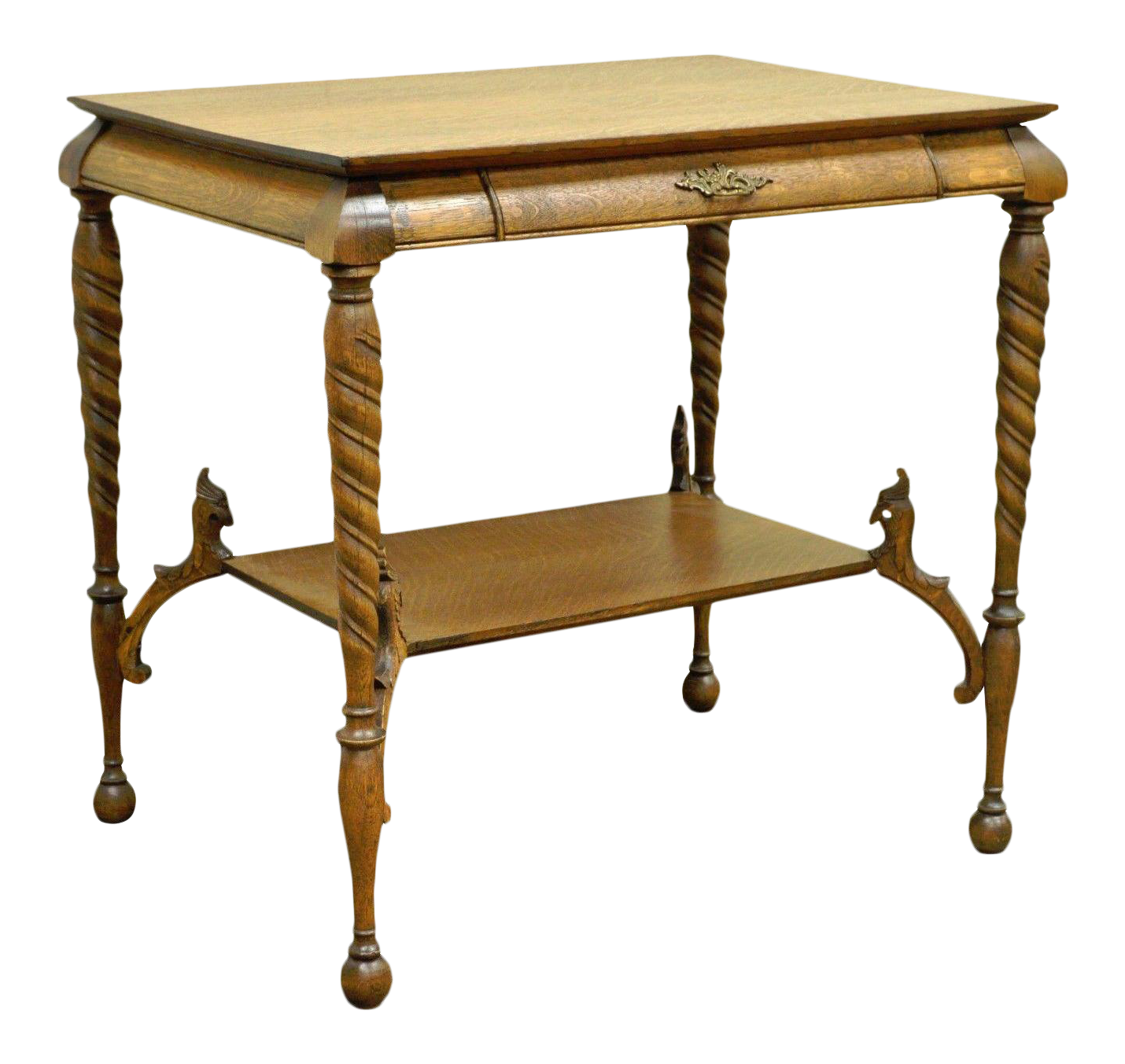 antique hall table. Antique Victorian Oak Barley Twist Figural Ladies Writing Desk Hall Table  Vintage Antique Hall Table E