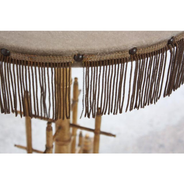 1950s Machine Age-Style Giltwood Occasional Table For Sale - Image 5 of 11