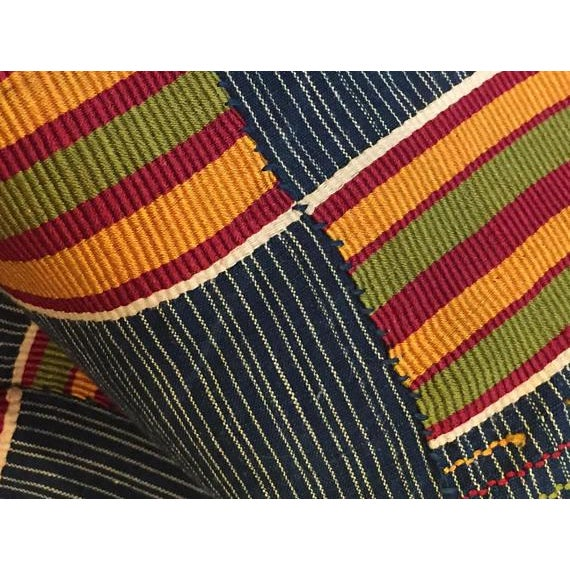 Vintage African Textile Kente Cloth Cotton Fabric / Blanket - Image 10 of 10