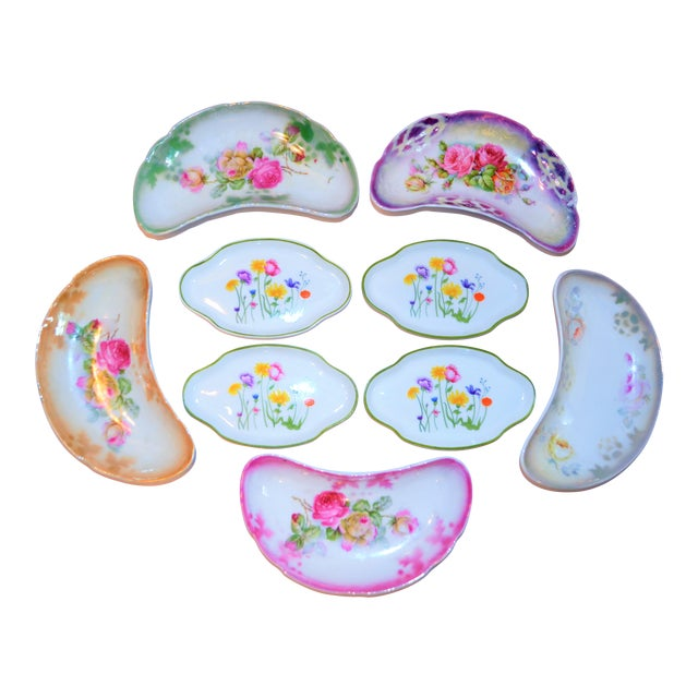 Floral Vintage and French Limoges Small Plates - Set of 4 For Sale In Houston - Image 6 of 7
