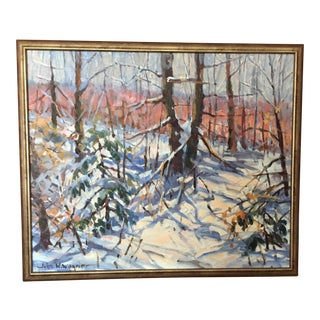 John W. Wagner Acrylic Landscape Painting For Sale