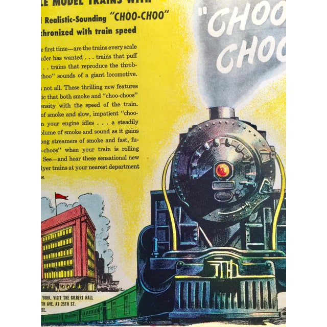 Mid-Century Modern 1946 Vintage American Flyer Train Ad For Sale - Image 3 of 4