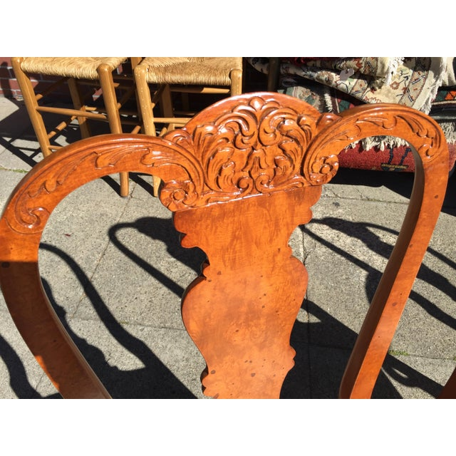 Burl Mahogany Chippendale Style Dining Chairs - Set of 10 - Image 5 of 12