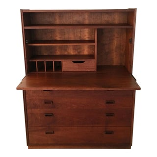 Vintage Mid Century Founders Furniture Dresser and Secretary Hutch For Sale