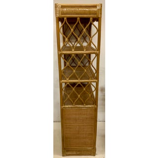 Pair of Rattan and Grasscloth Etageres / Bookcases Preview