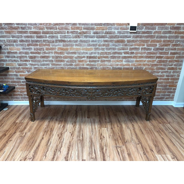 Antique Chinese Carved Writing Desk For Sale - Image 9 of 9