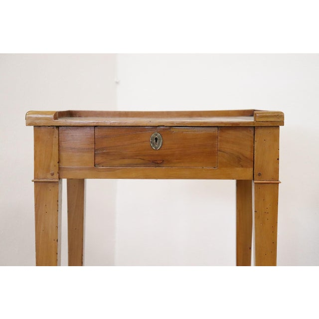 Late 18th Century 18th Century Italian Louis XVI Cherry Wood Side Table For Sale - Image 5 of 13