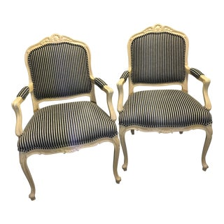 Ethan Allen French Provincial Style Chairs - a Pair