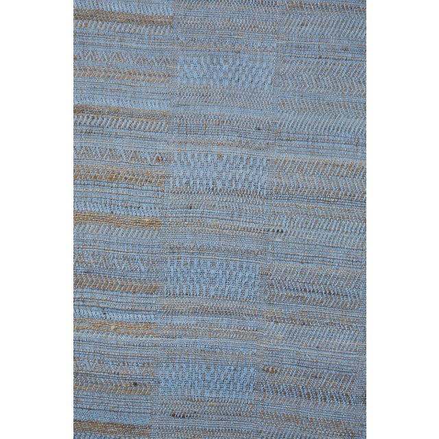 Contemporary Indian Handwoven Bedcover Hand Blue For Sale - Image 3 of 5