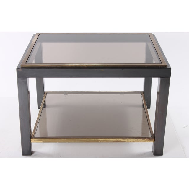 1970s Glass Top End Table - Image 2 of 5